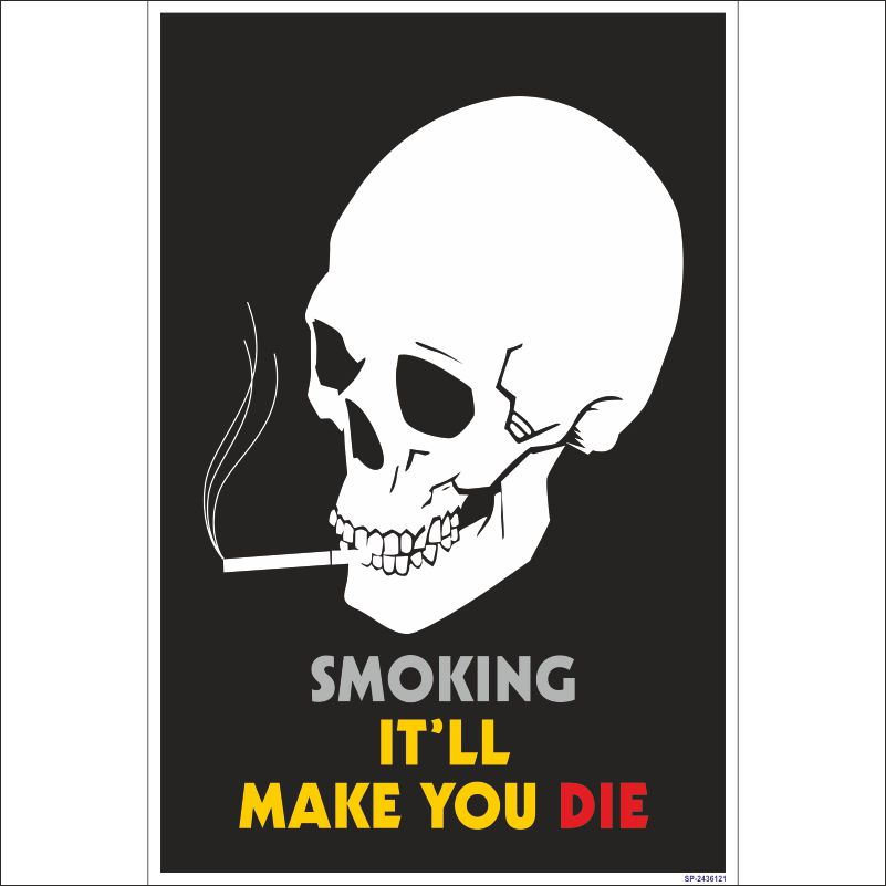 sp 2436121 smoking it ll make you die poster fire and safety house