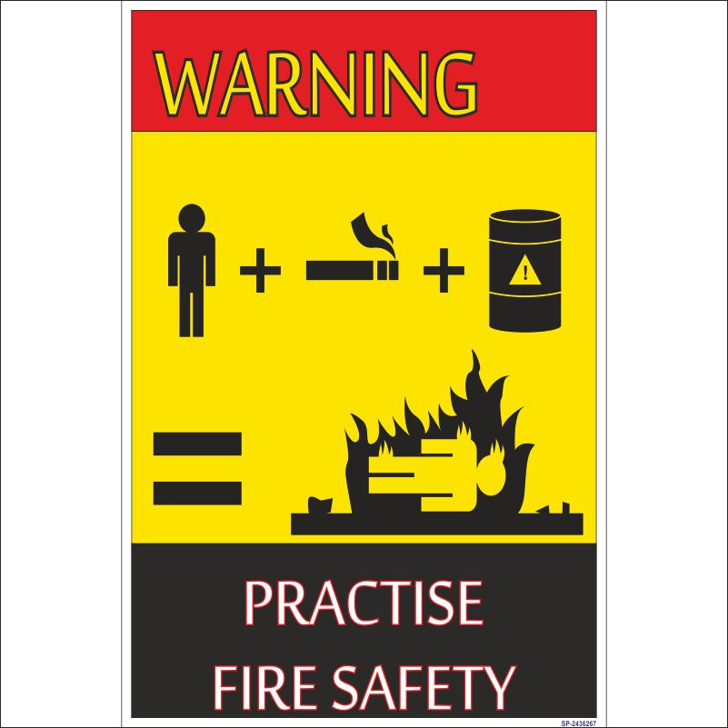 Sp 2436267 warning practise fire safety poster fire and for Fire safety house
