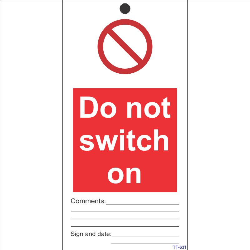 Do no Switch On Tag (Pack of 12 Nos)