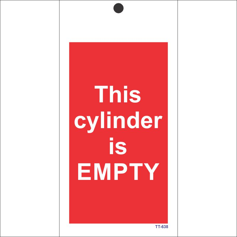 This cylinder is empty Tag (Pack of 12 Nos)