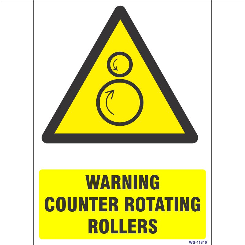 WS-11810 Warning Counter rotating Rollers Sign
