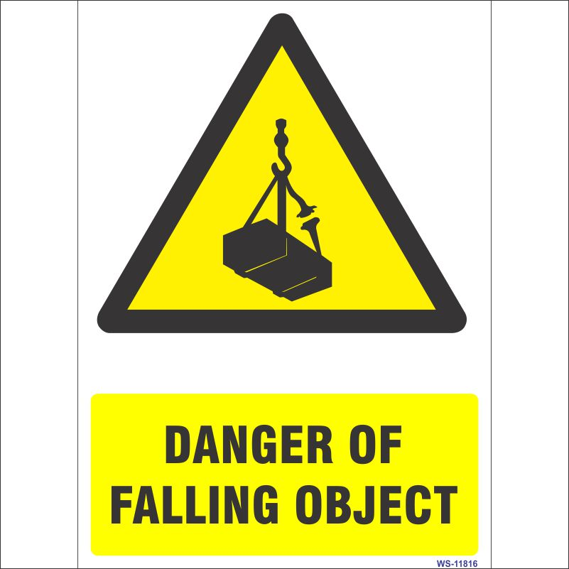 WS-11816 Danger Of Falling Object Sign