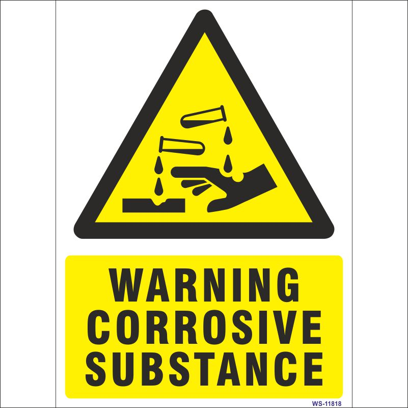 Warning Corrosive Substance Sign