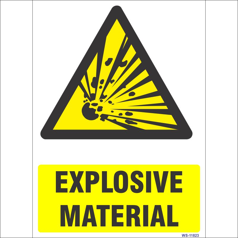 WS-11823 Explosive Material Sign