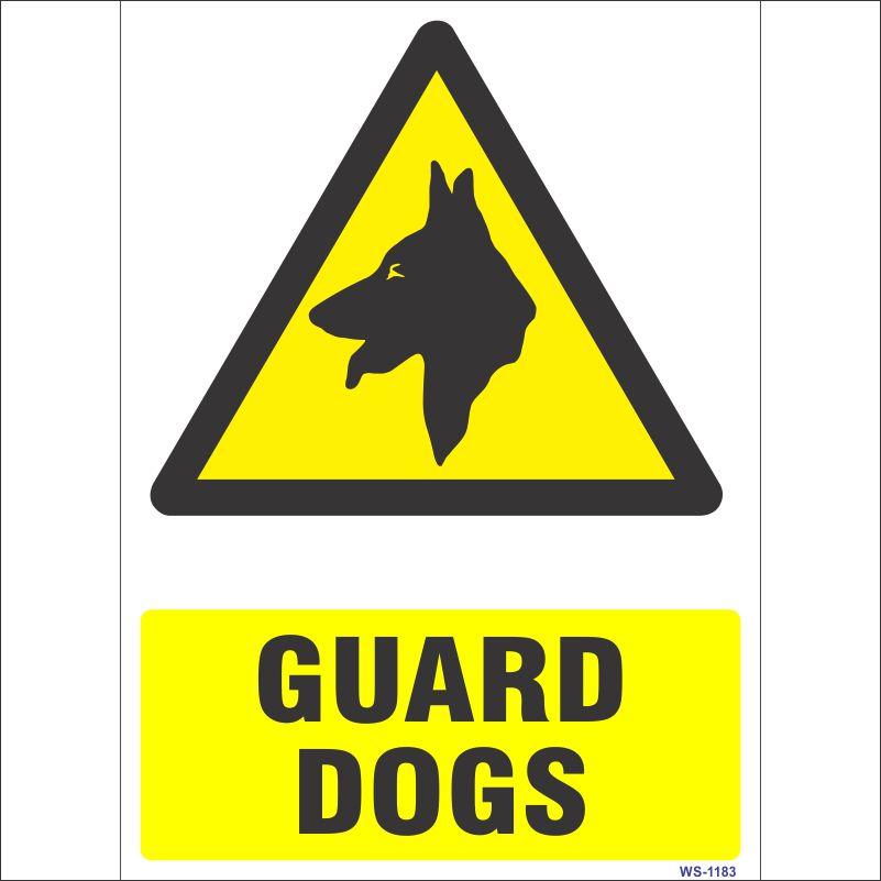 WS-1183 Guard Dogs Sign