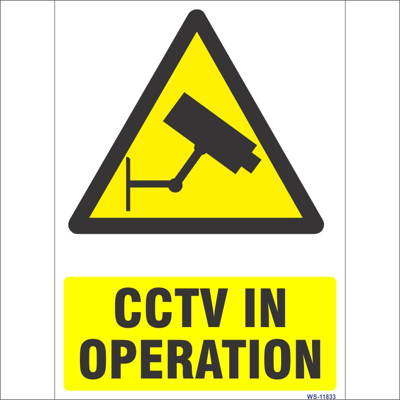 WS-11833 High quality CCTV in Operation Sign