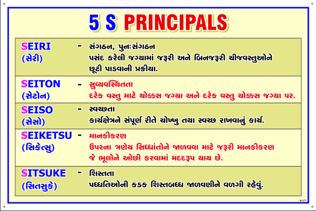 5s Principals In Gujarati Fire And Safety House